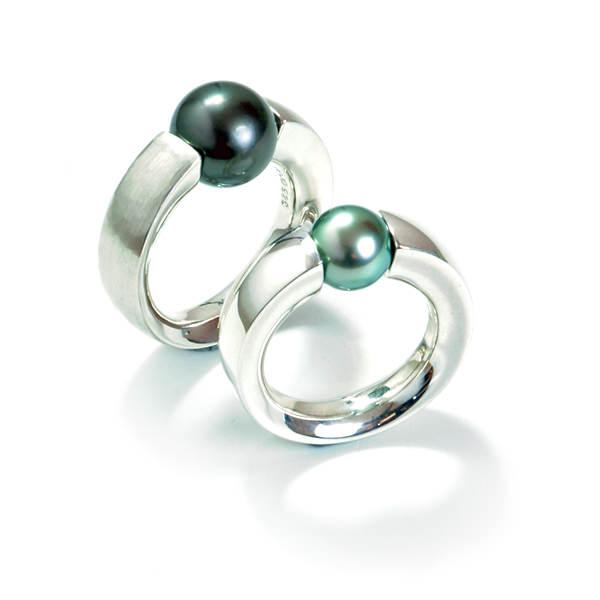 Perlenspannringe TahitiperleSilber (250051, 250052)